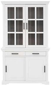 home affaire vitrine anabel aus massiver kiefer breite 110 cm