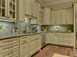 Kitchen Vintage Ideas Of Distressed White Cabinets