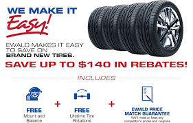 Tires For Sale With Ewald | Ewald Automotive Group