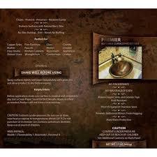 Kitchen Sink Stl Menu by Premier Copper Products W900 Wax Copper Sink Wax Protectant Clear