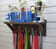 Personalized Trophy Shelf Medal Holder Pictures On Stunning Display Ideas Space Saving Baseball Diy Sports Tr