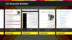 CV Resume Builder PROS Sample CVs Office Compatibility