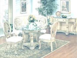 Round Glass Dining Room Table Elegant Sets Top