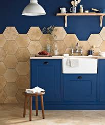 hexagon mosaic floor tile tags hexagonal style ideas for kitchen