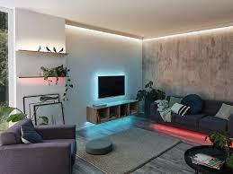 led strips für indirektes licht und raumbeleuchtung
