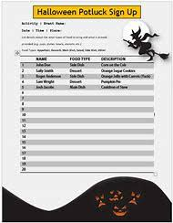 Halloween Potluck Sign In Sheet by Best 25 Ideas About Christmas Potluck Sign Up Sheet Find What