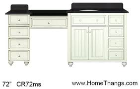 Small Bathroom Vanities With Makeup Area by Sagehill Designs 72