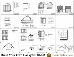 12x12 Shed Plans Pdf by 12x12 Traditional Victorian Backyard Shed Plans Icreatables Com