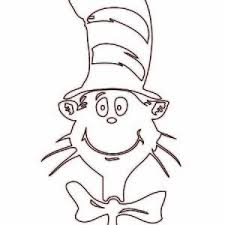 The Cat In Hat Picture Coloring Page