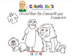 Bible Key Point Coloring Page Daniel In The Lions Den Online