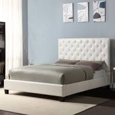 white leather headboard king size foter