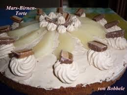 torten mars birnen torte