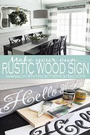 DIY Rustic Wood Sign
