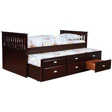 bernards logan captain s bed with trundle and storage wayside