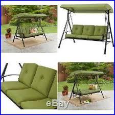 metal porch swing bed with canopy outdoor patio rocker hammock