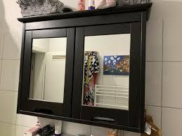 ikea hemnes badezimmermöbel schwarz braun