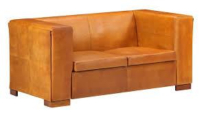 vidaxl 2 sitzer sofa hellbraun echtleder