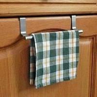 edelstahl tür handtuchhalter schranktür geschirrtuch halter stange ausziehbar