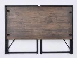 bureau industriel metal bois bureau industriel pliable bois et métal noir