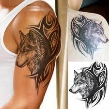 Tribal Wolf Tattoo Temporary Waterproof Body Art Costume