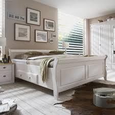 maison belfort massivholz doppelbett cenan 200x200 kiefer massivholz weiß gebeizt mit bettkasten