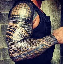 Arm Sleeve Tribal Tattoos For Men 15