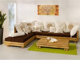 palawan eckgarnitur links mit auflagen bambus sofa eckcouch palawan collection
