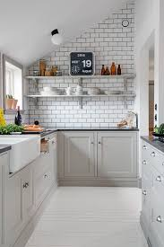 Grey Tiles With Grey Grout by White Tile Backsplash With Grey Grout Modest Design Interior