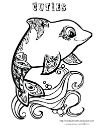 Coloring Pages Free Printable Dolphin For Adults Miami Dolphins Print Out Creative Cuties
