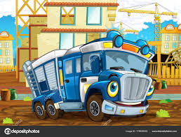 100 Funny Truck Pics Happy Cartoon Police Looking Smiling Driving City