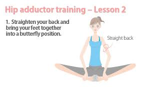 1 Straighten You Back Bring Your Feet Together Into A Butterfly Position