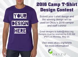 2016 camp t shirt design contest okizu