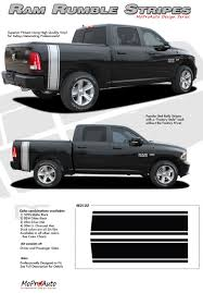 RAM RUMBLE STRIPES : 2009-2015 2016 2017 2018 Dodge Ram Bed Stripes ...