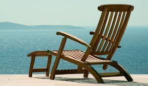 modore Teak Outdoor Recliner and Steamer Chair by Barlow Tyrie