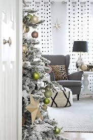 Pre Lit White Flocked Christmas Tree by Christmas Blogger Stylin Home Tours Cuckoo4design