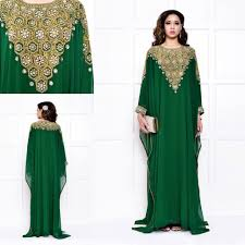 long sleeves gown arabic fashion wedding evening dresses for