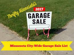 2017 Minnesota City Wide Garage Sales List Thrifty Minnesota