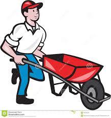 Man In Wheelbarrow Clipart