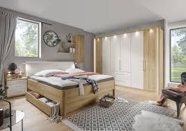 vito kanada 2 schlafzimmer set in bianco eiche nachbildung und absetzungen in chagner dekor 8315000200