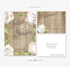 Rustic Wedding Invitations RSVP Cards