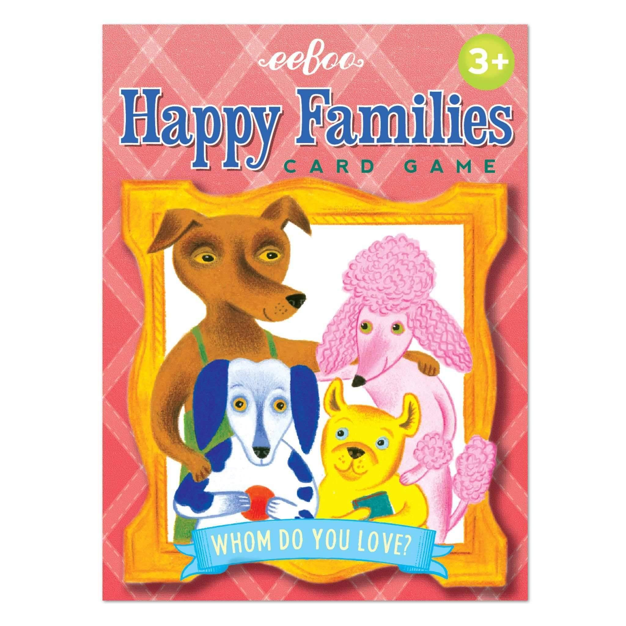 Eeboo Happy Families Kids Card Game