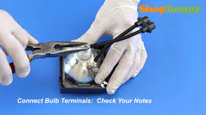 sony xl 2200 dlp tv l bulb replacement easy tv repair how to