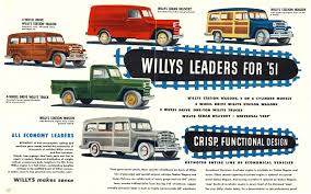 100 Willys Truck Parts 1951 Jeep Family Brochure E