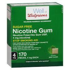 Walgreens Nicotine Gum 4mg Mint