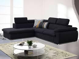 canapé tissu noir canapé d angle convertible en tissu taupe ou noir fabien