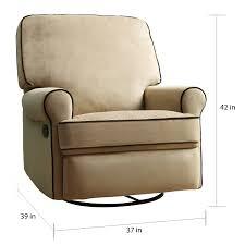 Chloe Sand Fabric Nursery Swivel Glider Recliner Chair Free