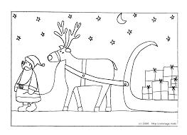 Coloriage Le Père Noël Et Son Traineau