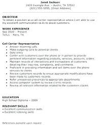 Sample Resumes For Call Center Jobs Resume Customer Service Examples Professional Writers