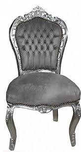casa padrino barock esszimmer stuhl grau silber antik stil möbel