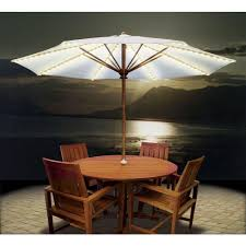 Offset Patio Umbrella With Mosquito Net by Lighted Umbrella For Patio Home Outdoor Decoration